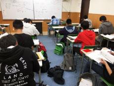 中3生 勉強の風景